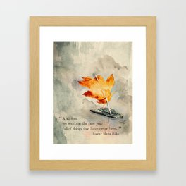 Welcome the New Year Framed Art Print