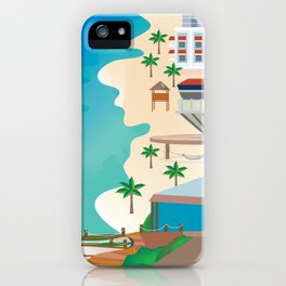 Cancun, Mexico - Skyline Illustration by Loose Petals iPhone Case