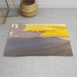 Utah Wasatch Mountains Sunset Print Rug