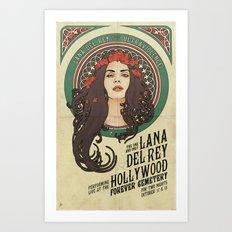 LDR x Alphonse Mucha Art Nouveau Poster Art Print