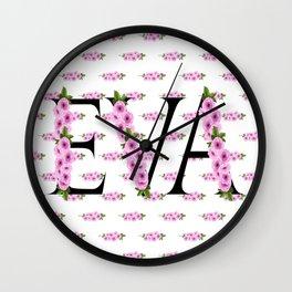 Eva's Sakura Flowers Wall Clock