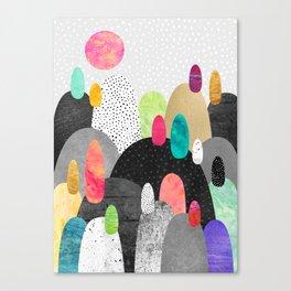 Little Land of Pebbles Canvas Print