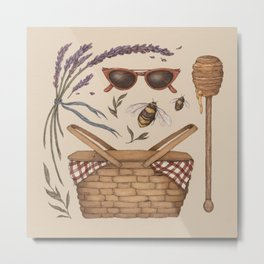 Summer Picnic Collection Metal Print