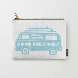 Good Vibes Only retro surfing Camper Van Carry-All Pouch