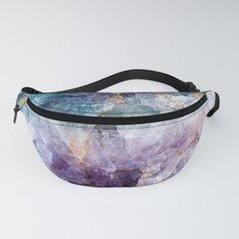Turquoise & Purple Quartz Crystal Fanny Pack