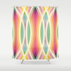 Retro Circles Shower Curtain