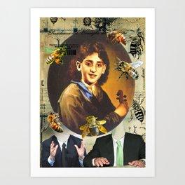 COLLAGE: Franco Battiato Art Print