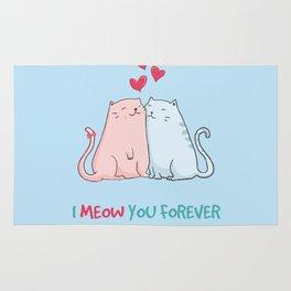 I meow you forever Rug