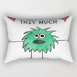 ab014-5 I love you this much Rectangular Pillow