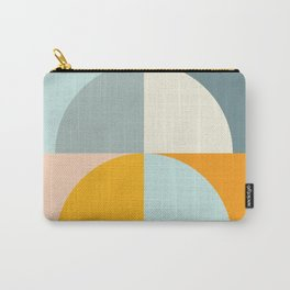 Summer Evening Geometric Shapes in Soft Blue and Orange Carry-All Pouch