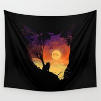 meow Wall Tapestries featuring Meow by barmalisiRTB