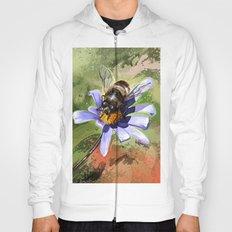 Bee on flower 18 Hoody