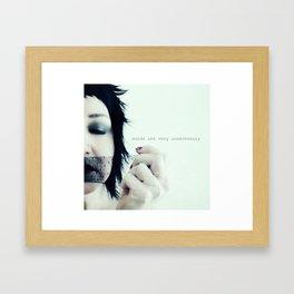 words are very Framed Art Print