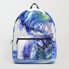Watercolor Sunny Wave Backpack