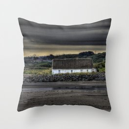 Cottage @ Laytown Beach Throw Pillow