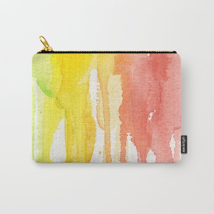 Rainbow Watercolor Texture Pattern Abstract Carry-All Pouch