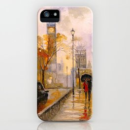 Snow in London iPhone Case
