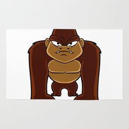 geometric gorilla Rug