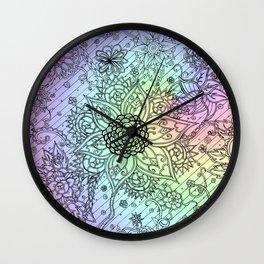 Psychedelic Swirls Wall Clock