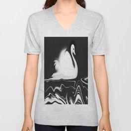 Swan Painting Unisex V-Neck