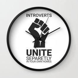 Introverts unite- Dark Wall Clock