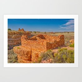 Box Canyon Indian Dwellings at Wupatki National Monument AZ Art Print