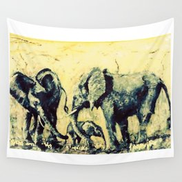 Save the Elephants          by Kay Lipton Wall Tapestry