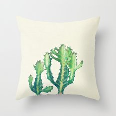 Dragon Bones Tree Throw Pillow