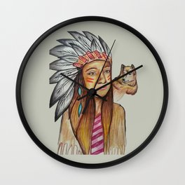 American İndian Wall Clock