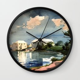Salt Kettle Bermuda 1899 By WinslowHomer | Reproduction Wall Clock