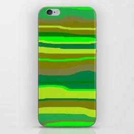 Green Multi Brush Strokes iPhone Skin