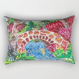 Pointalism Pond Rectangular Pillow