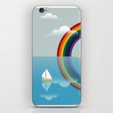 Rainbow by the Sea iPhone Skin