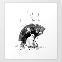 In the rain... Art Print