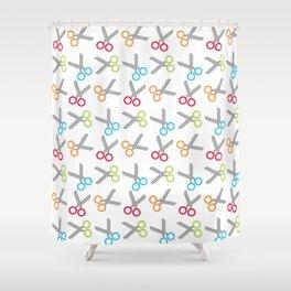 Bright Scissors Shower Curtain