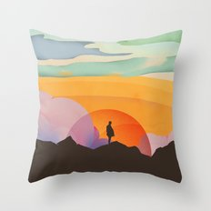 I Like to Watch the Sun Come Up Throw Pillow