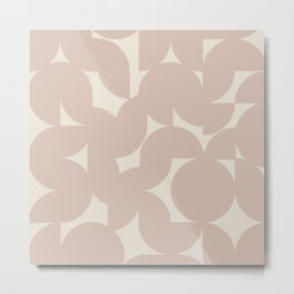 Abstract Geometric Shapes - Neutral Rose Metal Print