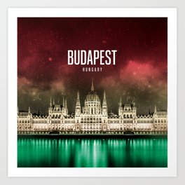 Budapest Wallpaper Art Print