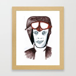Emilia Earhart Framed Art Print