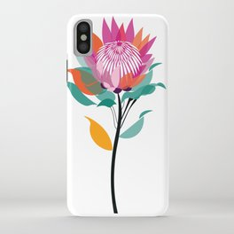 Protea Illustration; Botanical; Australian Native iPhone Case
