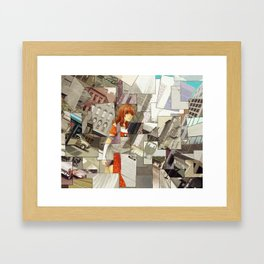Time Montage Framed Art Print