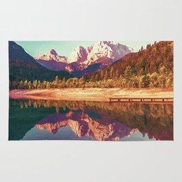 Mountain reflections Rug