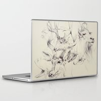 antlers Laptop & iPad Skins featuring Antlers by Brian Jarrell