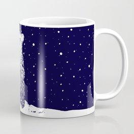 Polar Bear in a Snow Storm Coffee Mug