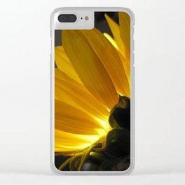 Sunflower Sunshine Clear iPhone Case