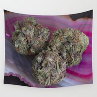 medical Wall Tapestries featuring Grape Ape Medicinal Medical Marijuana by BudProducts.us