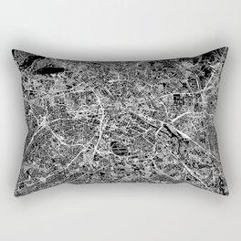 Berlin Black Map Rectangular Pillow