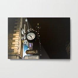 Clock in Grafton street, Dublin Metal Print