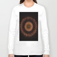 black and gold Long Sleeve T-shirts featuring Gold by Jane Lacey Smith