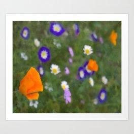 Mixed Flowers Art Print